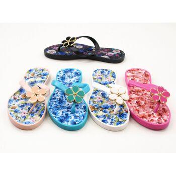 Damen Flipper Strandschuhe Schuh Shoes Sandalen Sandaletten Slipper Zehentreter nur 5,90 Euro