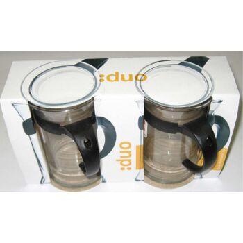 12-578419, Teeglas 2er Pack, mit Griff, Mikrowellen geeignet++++++