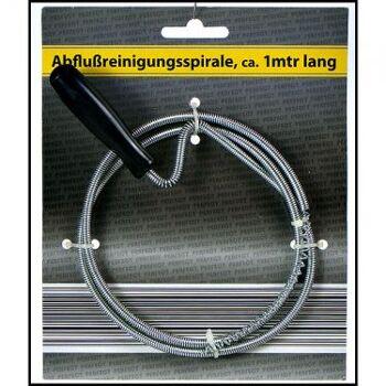 28-022097, Metall Abflußreinigungsspirale