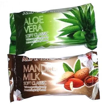 Toilettenseife, toilet soap, Seife, Alpinweiss, Cream Soap 100g Aloe Vera, Mandel Milk