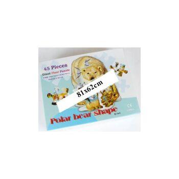 28-862139, Riesen Konturen-Puzzle Eisbär, 45-teilig, 81x62cm
