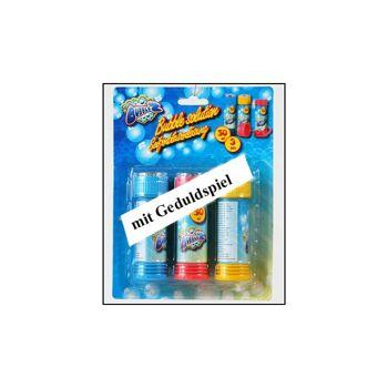 28-906973, Seifenblasenspiel 3er Pack, mit Geduldspiel im Deckel, Seifenblasen
