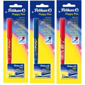 12-930347, Pelikan Füller Happy-Pen + 6 Tintenpatronen