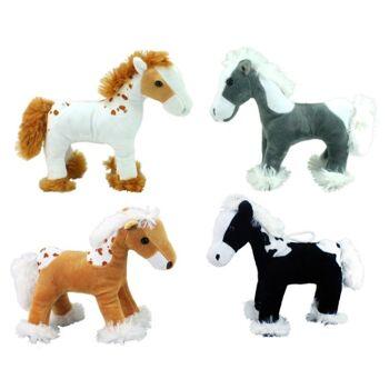 27-25630, Plüsch Pferd 20 cm, Kuscheltier, Spieltier, Plüschpferd