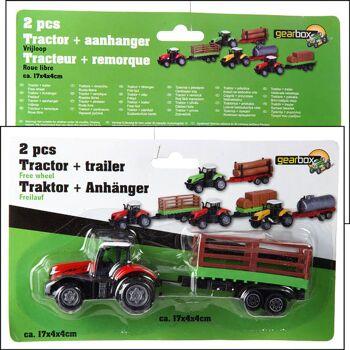 28-981796, Metall Traktor Spielset 2-teilig, Farmerset, Farmertraktor