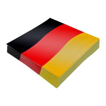 17-42421, Servietten Deutschland, 20er Pack, BRD Farben, Party, Fete, Event, usw