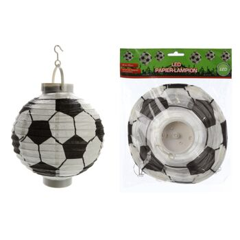 17-60751, LED Papier-Lampion Fußball, Party, Event, usw