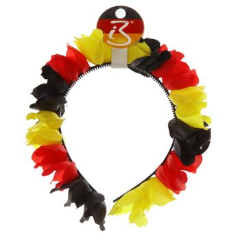 17-91174, Haarreif mit Blüten Deutschland, BRD Farben Blumenkette, Hawaiikette