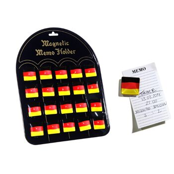 17-29686, Magnet Deutschland, 20er, eckig, BRD Farben, Flagge, usw