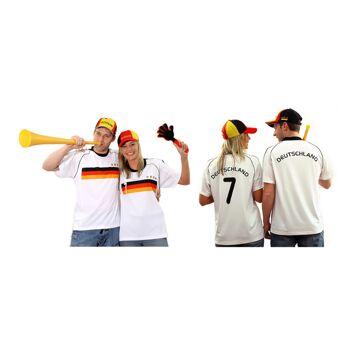 17-547490, Fußballtrikot Deutschland für Erwachsene, BRD Farben, Fahne, Flagge, Party, Event, Fanmile