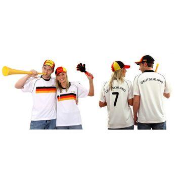 17-547491, Fußballtrikot Deutschland mit Nummer, BRD Farben, Fahne, Flagge, Party, Event, Fanmile