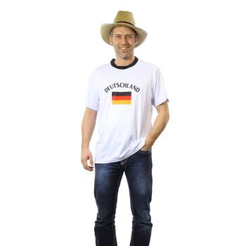 17-547497, Fußball T-Shirt Trikot Deutschland für Erwachsene, BRD Farben, Fahne, Flagge, Party, Event, Fanmile