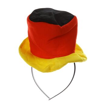 17-71055, Haarreif mit Hut Deutschland, BRD Farben, Fahne, Flagge, Party, Event, Fanmile