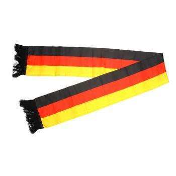 17-60725, Fanschal Deutschland 130 x 15 cm Fete, Event, Fussball, Stadion, BRD Farben, Fahne, Flagge, Party, Event, Fanmile, usw.