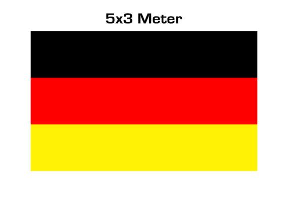 17-60773, RIESEN Fahne Deutschland 300 x 500 cm Fete, Event, Fussball, Stadion, BRD Farben, Fahne, Flagge, Party, Event, Fanmile, usw.