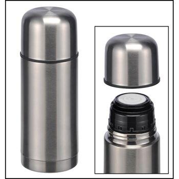 28-26063, Isolierkanne Edelstahl 0,35Liter, Deckel mit Schraubverschluß, Deckel als Trinkbecher verwendbar Thermoskanne