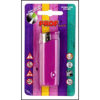 28-052218, Feuerzeug elektronisch mit LED Licht, nachfüllbar, mit Kindersicherung