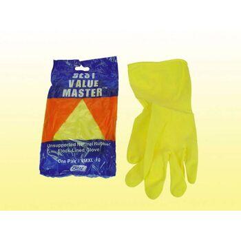 Arbeits- Haushalt Handschuh, Gartenhandschuh, Markenqualität, XL-Gr 10, Natur - Kautschuk