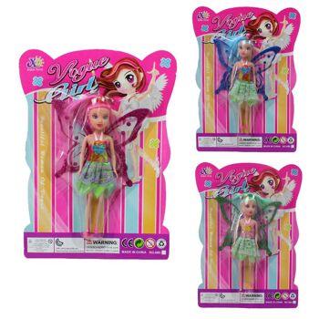 27-83101, Puppe mit Flügeln 16 cm, Modepuppe, Spielpuppe