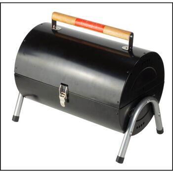 28-505140, Metall Grill Zylinderform 40 cm, 2 Grillroste, Holzkohle