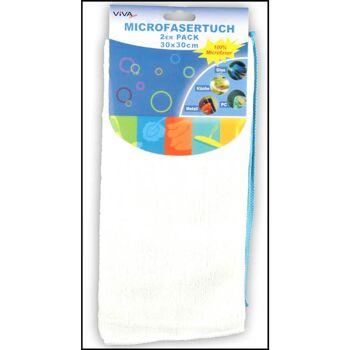 28-000411, Mikrofasertuch 30x30 cm, 2er Pack 2 Farben