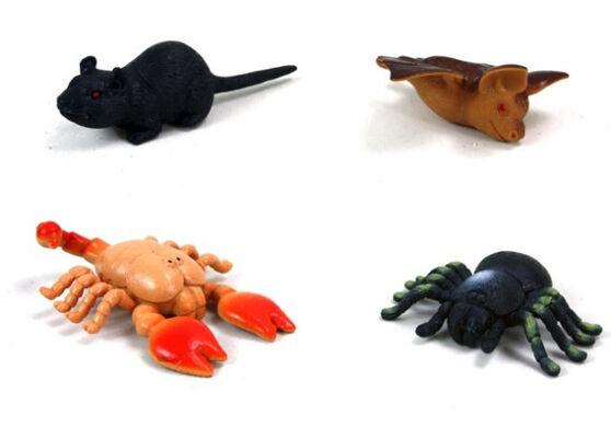 27-41331, Gruseltiere, Skorpion, Ratte, Fledermaus, Spinne