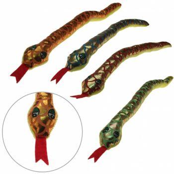 10-166090, Plüsch Schlange mit Gesicht, 40 cm, zum Kuscheln, Spielen oder Verschenken, Zootier, Waldtier, Wildtier