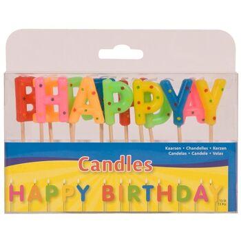 27-44252, Geburtstagskerzen ,Happy Birthday