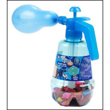 28-574991, Ballonpumpe mit 100 Ballons, zum Befüllen m. Luft o. Wasser, Wasserbomben