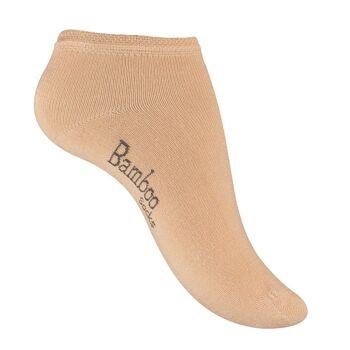 Vincent Creation® Unisex BAMBUS-Sneakersocken mit nahtloser Spitze in beige
