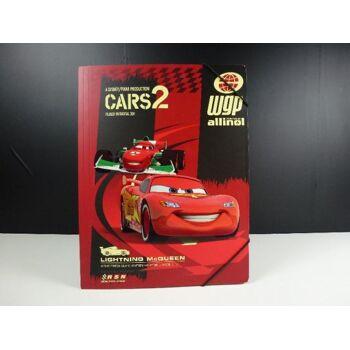 12-232018, Disney Gummizugmappe A4, Cars 2, Lizenzware, Sammelmappe
