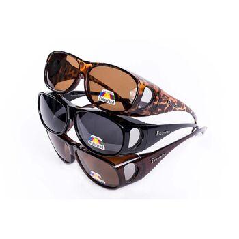 Figuretta Sonnenbrille Überbrille in Leoparden Optik aus der TV Werbung