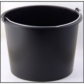 12-800270, Baueimer 12 Liter, mit Liter-Skala, Metallhenkel, Mörteleimer, Wassereimer