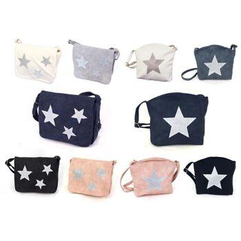Damen Taschen Stern Mix Unifarbend Lederimitat Umhängetasche Schultertasche nur 5,90 Euro