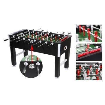 17-71077, Holz Tischfußball 137x65cm, Kicker mit Zubehör++++++