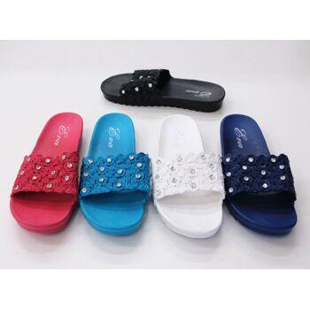 Damen Woman Sandalen Sandaletten Mix Slipper Sommer Schuh nur 3,90 Euro
