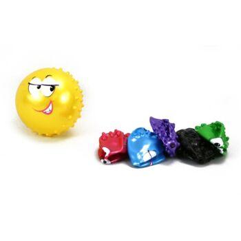 27-71670, Noppenball mit Gesicht 12 cm Stachelball, Massageball, Wasserball, Wurfball, Spielball