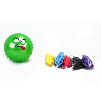 27-71671, Noppenball mit Gesicht 17 cm, Stachelball, Massageball, Wasserball, Wurfball, Spielball