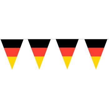 27-80010300, Wimpelkette Deutschland 10 meter, Wimpelgirlande, BRD Farben, Party, Event, Fanmile, usw