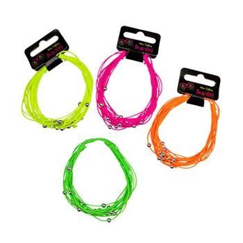 27-80124, LUCKY GIRL Neon Fashion Armband, TOP TRENDARTIKEL, Modeschmuck
