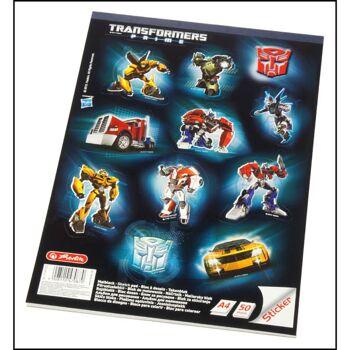 28-470870, Herlitz Zeichenblock A4 Transformers, mit 11 Aufklebern, 50 Seiten, Malblock