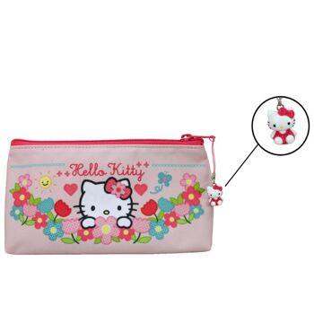 27-46114, Schlamper HELLO KITTY HOME SWEET HOME Schlamper Etui, Stiftetasche, mit Hello Kitty-Anhänger
