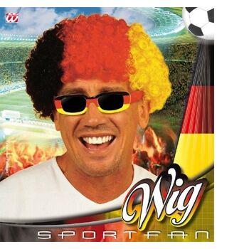 27-46891, Perücke - Afro Deutschland schwarz/rot/gelb Party, Event, Stadion Publicviewing Fanmile, usw