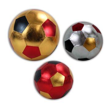 27-71668, Metallic Fußball 40 cm, Fussball, Wasserball, Beachball, Spielball