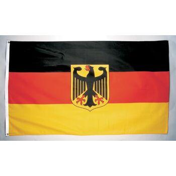 27-88010100, Deutschlandflagge mit Adler 90 x 150 cm, Deutschlandfahne BRD Farben, Party, Event, Fanmile