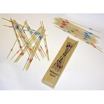 27-42598, Holz Mikado Geschicklichkeitsspiel, in Holzbox