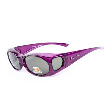Figuretta Sonnenbrille Überbrille in Lila aus der TV Werbung