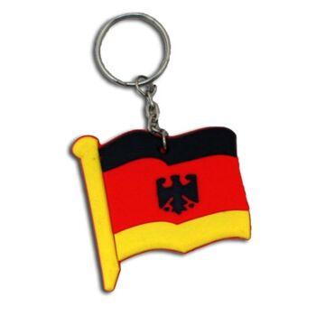 27-12843, Deutschlandflagge mit Adler an Schlüsselkette Party, Event, Stadion Publicviewing Fanmile, usw