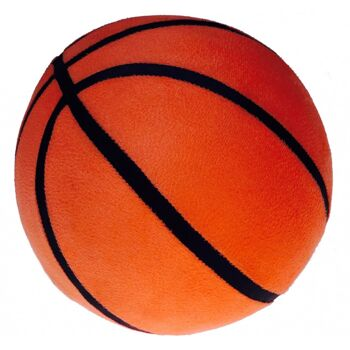 10-546620, Aufblasbarer Basketball 25 cmRutschfester Noppen-Stoffüberzug, Wasserball, Beachball, Spielball