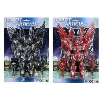 27-44335, Roboter mit Flügeln 31 cm mit beweglichen Gliedmaßen inkl. Waffe und Schild